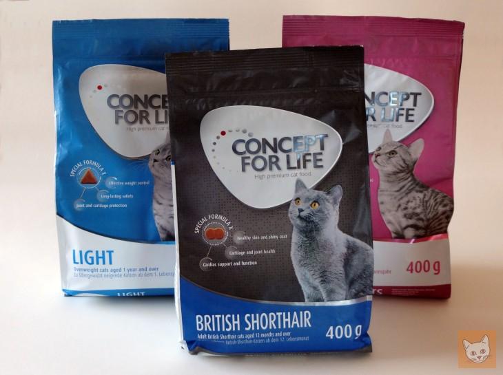 3 Packungen Concept for Life Katzenfutter