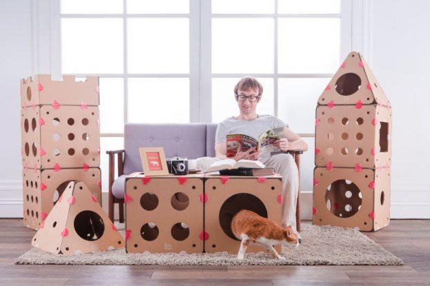 Katzenkartons von Box Kitty im Zimmer