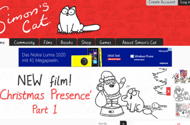 Screenshot Simon's Cat