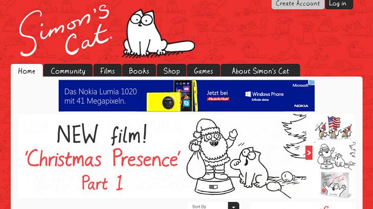 Screenshot Simon's Cat
