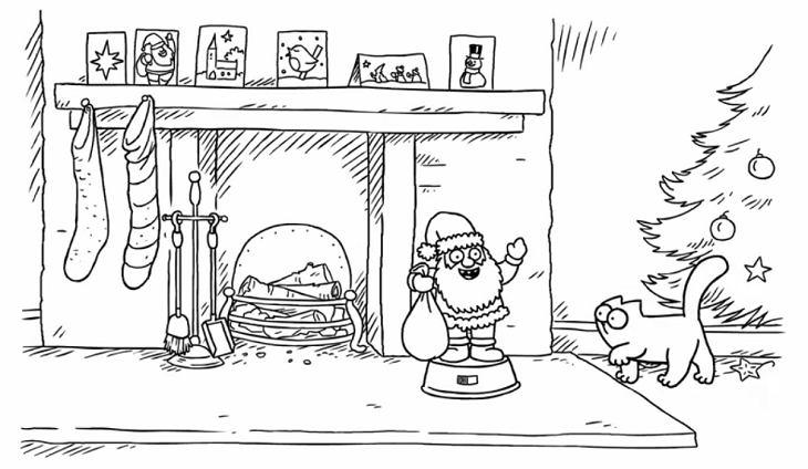 simon 39 s cat christmas presence zweiteiler. Black Bedroom Furniture Sets. Home Design Ideas