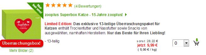 Zooplus Superbox Katze