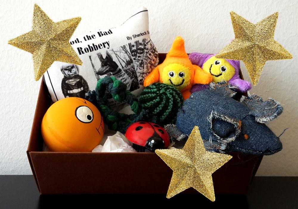 2 advent geschenkbox terrormieze eine kiste voller spielzeug lieblingskatze. Black Bedroom Furniture Sets. Home Design Ideas